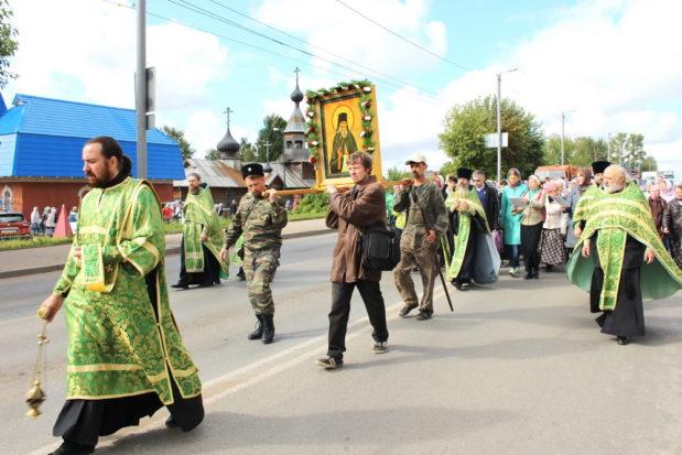 Крестный ход в честь преподобного Стефана Филейского